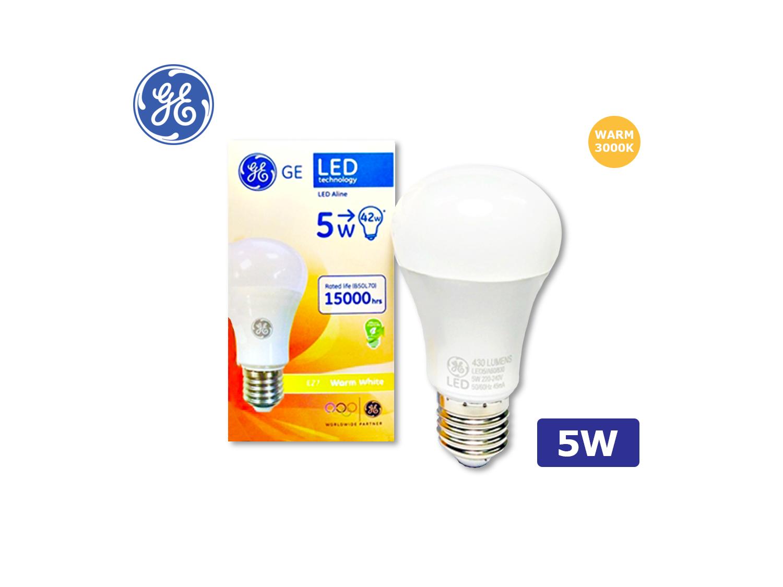GE LED A60/5W/E27/3000K(Warm White)/220-240V ; SKU : 45617T, LED5/A60/830/220-240V/E27