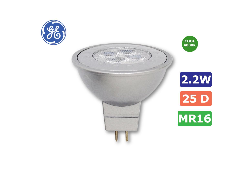 GE 2.2W/MR16/GU5.3/840(Cool White)/25 ; SKU : 73740T, LED2.2/MR16/840/25
