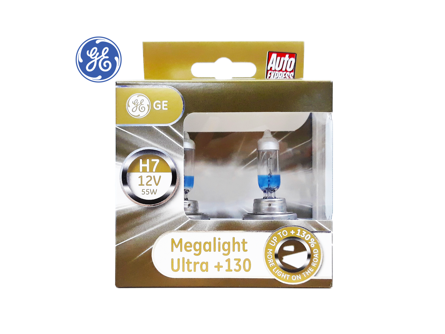 GE H7 +130% Megalight Ultra Head lamp ; SKU: 93039912