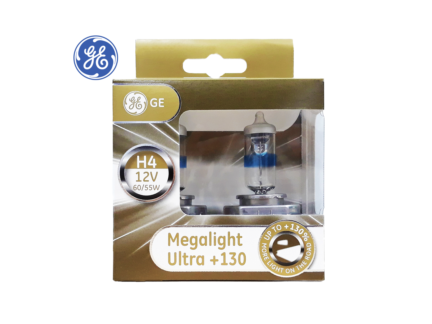 GE H4 +130% Megalight Ultra Headlight lamps ; SKU: 93039913