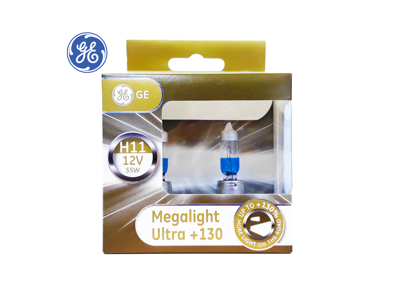 GE H11 +130% Megalight Ultra Headlight lamps ; SKU: 93040088