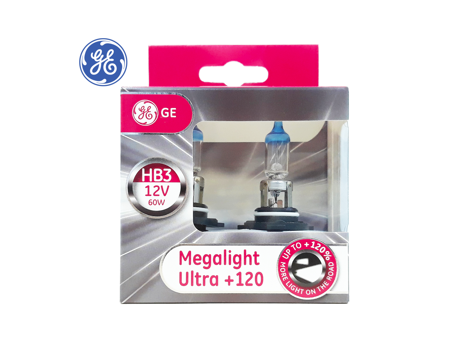 GE HB3 +120% Megalight Ultra Headlight lamps ; SKU: 98436