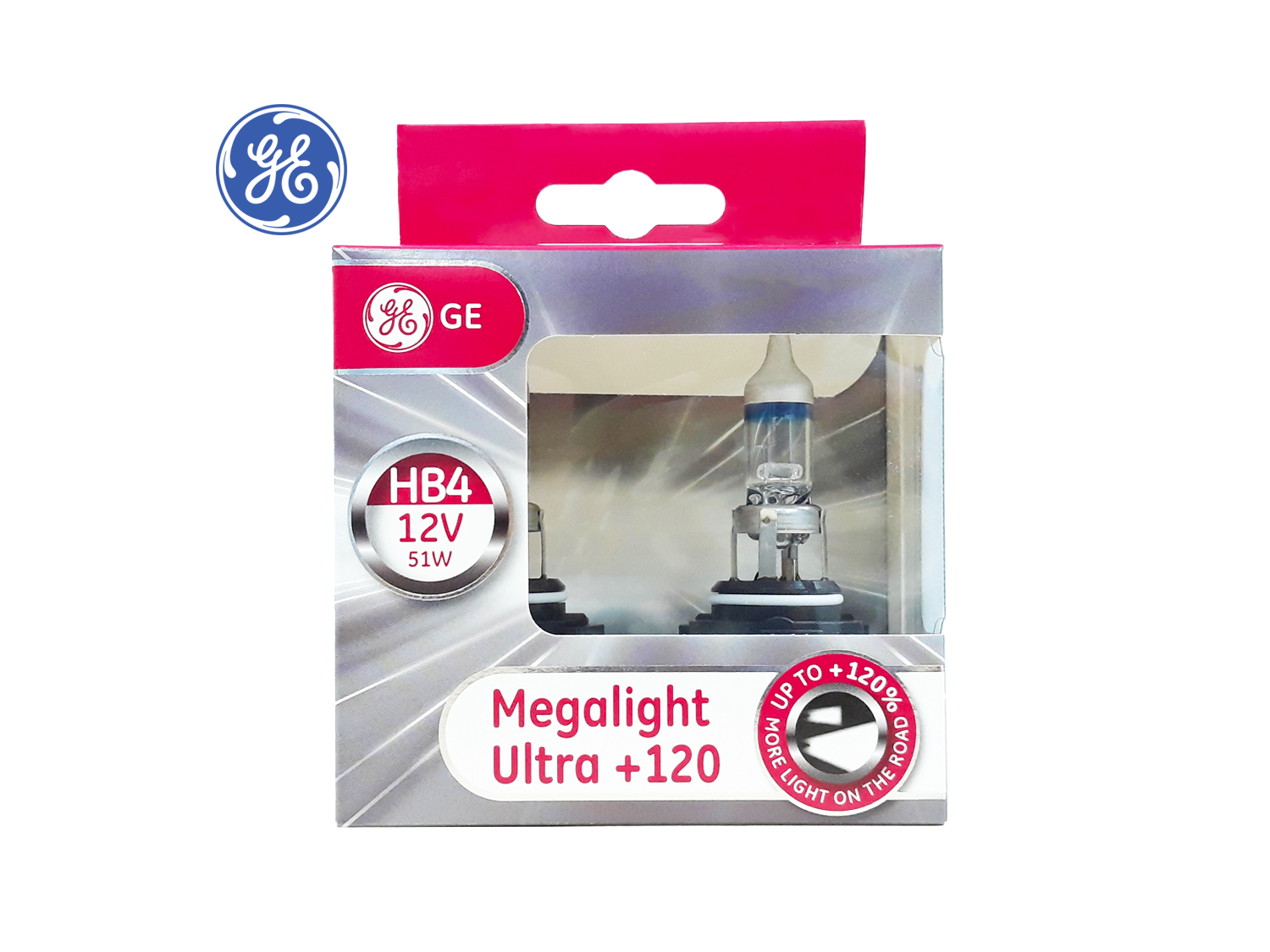 GE HB4 +120% Megalight Ultra Headlight lamps ; SKU: 98437